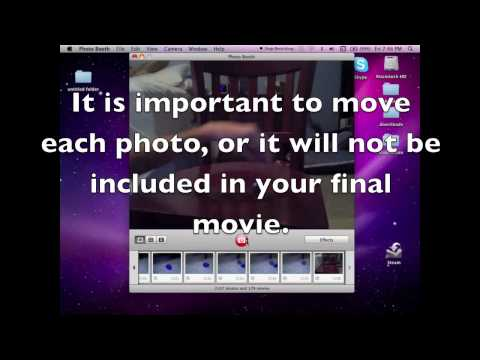 How to Make a Stop Motion using ONLY iMovie and Photo Booth