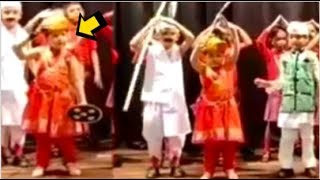MS Dhoni's Daughter Ziva Dhoni's DANCE Performance For School Annul Day