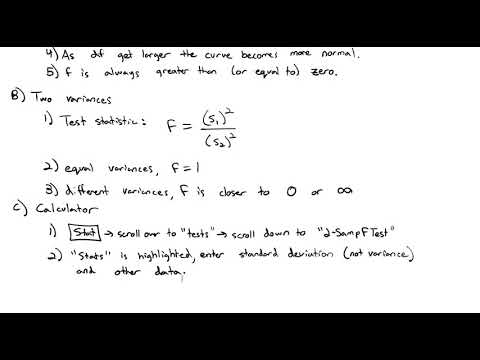 4.4 Hypothesis Testing for Two Variances