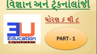 SCIENCE AND TECHNOLOGY STD 6 TO 8 PART 1 | SCIENCE TECHNOLOGY ANSWER AND QUESTION | EDUCATION UPDATE