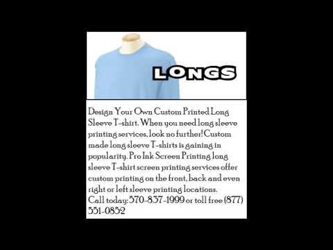 Cheap Custom Long Sleeve Shirts Printing at Pro Ink Screen Printing