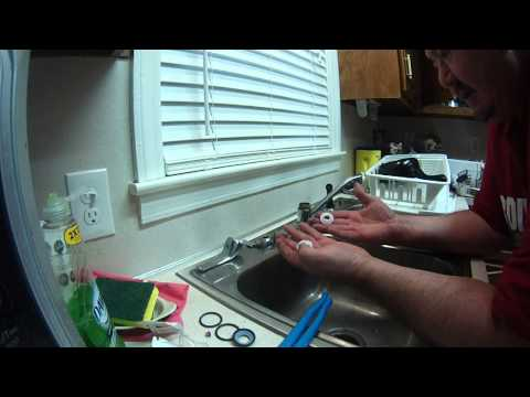 Replacing the washers to a Delta/Peerless Single Lever Kitchen Faucet, Big John's Service Co