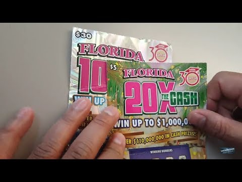 ANOTHER BACK TO BACK WINS! FINAL SCRATCH IN FLORIDA -100X AND 20X THE CASH TICKETS