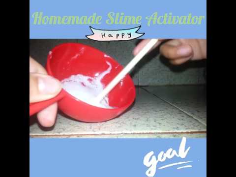 How to make Slime Activator!!! ( without Borax, Contact Lens Solution, ETC..