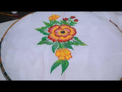 How To learn Fabric Painting - Class 8 - Busma Ahsan