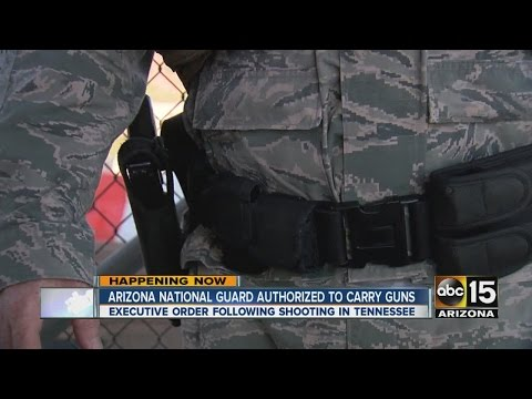 Arizona Governor Doug Ducey authorizes National Guard to carry guns while on duty