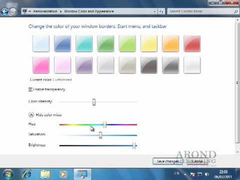 Using Windows 7 - Change the Windows 7 Color Scheme