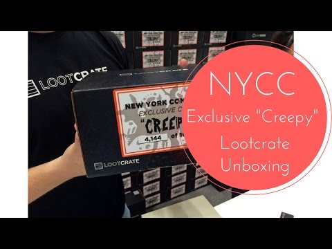 New York Comic Con Exclusive Creepy Loot Crate Unboxing