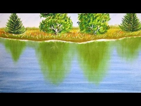 How to paint reflection on the water - With Commentary - Pastel Painting