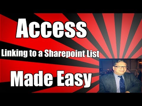 How to Use a sharepoint list in Access 2013, Microsoft Access 2010, and Access 2007 2016 Tutorial