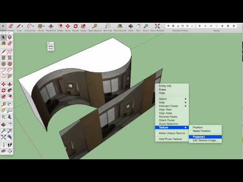 Texture Projection in SketchUp (Dutch)