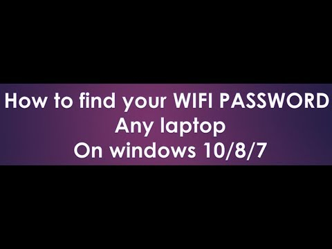 how to find your wifi password on windows 10 2018