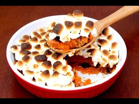 Sweet Potato Casserole with Marshmallows -- The Frugal Chef