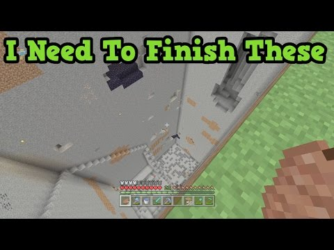 Minecraft Xbox - My 7 Unfinished Builds