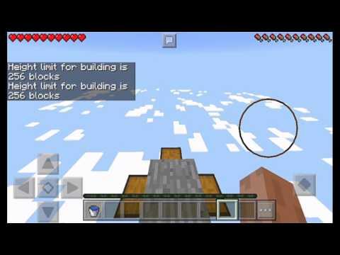 256 Blocks MLG Water Bucket On Minecraft PE ?!