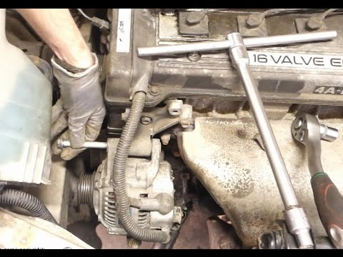 How to replace alternator Toyota Corolla. Years 1991 to 2002