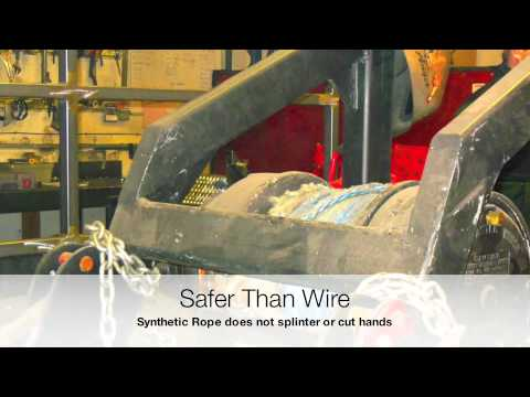 Replacing Wire with Synthetic Ropes in Drill Rigs and Drilling Applications.