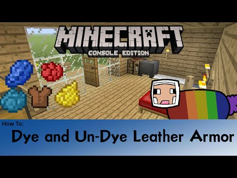 Minecraft: How To Dye And Un-Dye Leather Armor PS4/XBOX