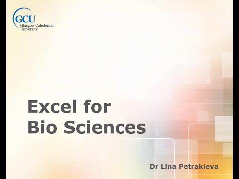 Excel for BIO Sciences