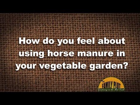 Q&A -- Using horse manure in garden