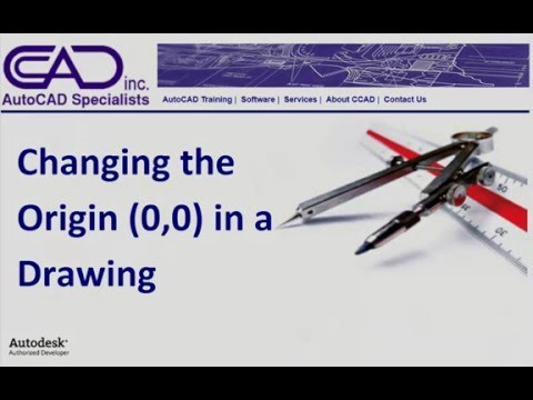 Changing the Origin (0,0) in an AutoCAD Drawing