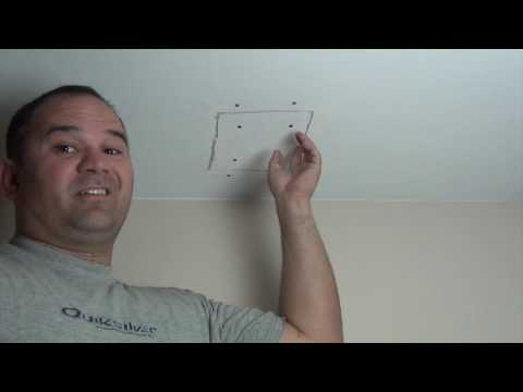 Easy drywall ceiling patch