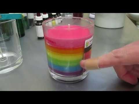 Soy Rainbow Jar Candle