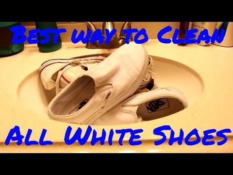 HOW TO CLEAN WHITE SHOES!