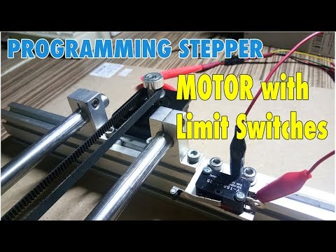 Control Stepper Motor with  Limit Switches - Arduino Programming