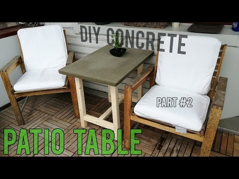 DIY Concrete Patio Table (Part 2) | DIY