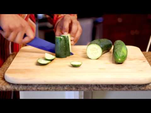 How to Cut a Cucumber Into Matchsticks