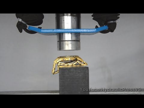 $20 000 Rolex gold watch vs Hydraulic Press - How to make gold!
