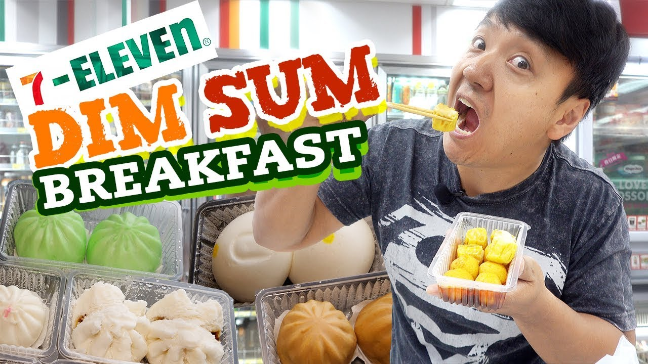 7-ELEVEN DIM SUM Breakfast in HONG KONG