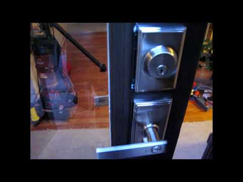 HOW TO INSTALL GLASS INSERTS ON A FRONT DOOR
