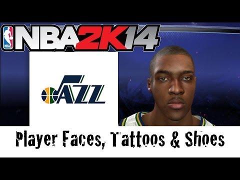 NBA 2K14—Utah Jazz—Player Faces, Tattoos and Shoes