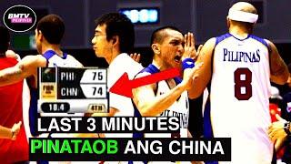 PANAHONG PINATAOB NG PILIPINAS ANG MALAKAS NA CHINA SA FIBA