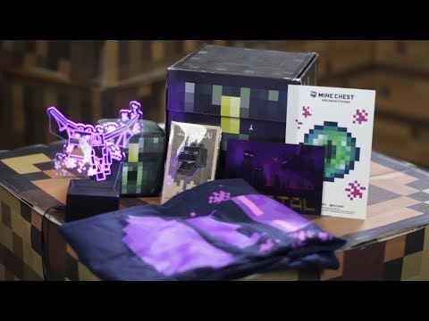 Mine Chest the Minecraft Monthly Box December 2017 Unboxing