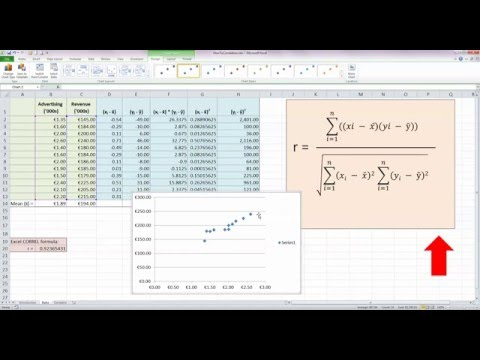 How To... Calculate a Correlation Coefficient (r) in Excel 2010