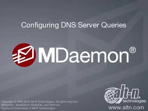Domain & Server Settings - Configuring DNS Server Queries