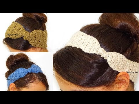 How to Make the Knotted Bow Headband or Earwarmer - Free Crochet Pattern | Yay For Yarn