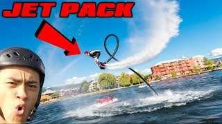 Flying JETPACK FLYBOARD! *OVER WATER*