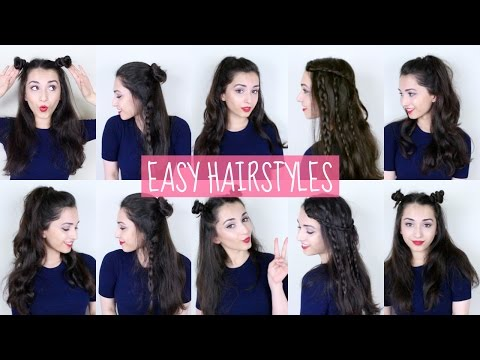 Easy Half-Up Half-Down Hairstyles!