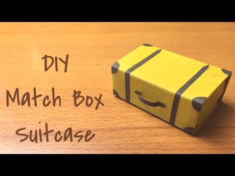 DIY MatchBox Suitcase | How To Craft - Anushree's Craft TV