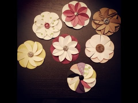Martha stewart crafts punch techniques demo ideas for paper flower from circle punch mightylinksfo