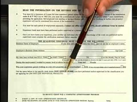 California Contractors License State Application Video  www.ACLC.com