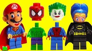 SUPERHERO Joker Prank Wrong Heads Magic Microwave Surprises