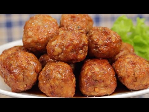 Sweet and Sour Meatballs with Lotus Root (Perfect Bento Ingredient Recipe) | Cooking with Dog