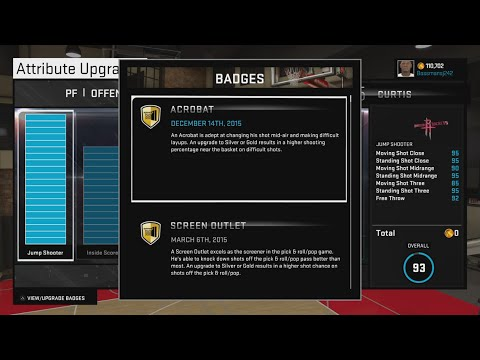 NBA 2k15 - How to get acrobat badge easy