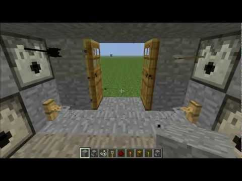 How to make a trip wire dispenser trap in minecraft 1.4.2