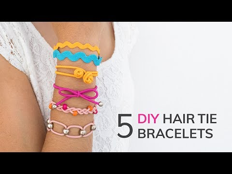 5 DIY Hair Tie Bracelets | Friendship Bracelets | Curly Made